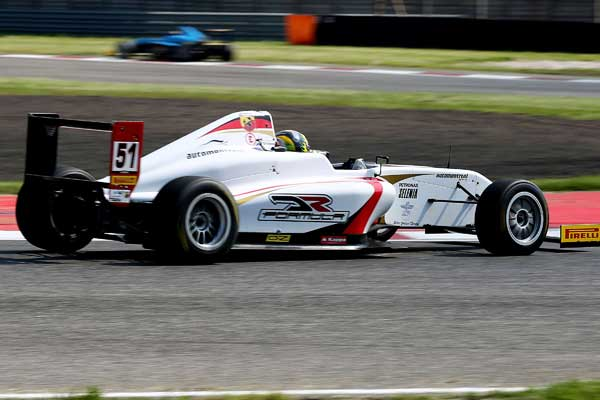 The three DR Formula drivers in thepoints at Adria's Italian F4 round