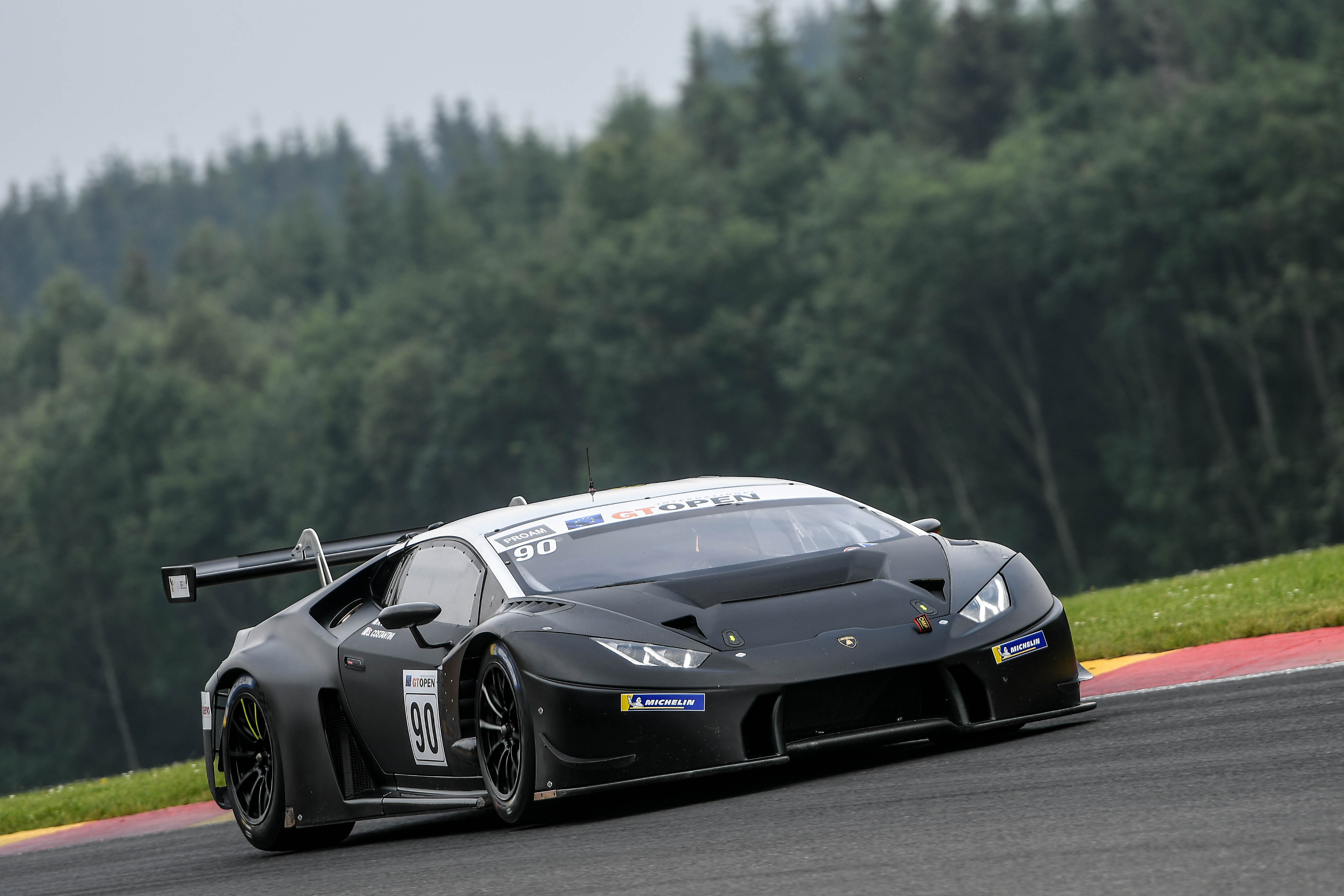 Target unlucky  in the International GT Open round at Spa