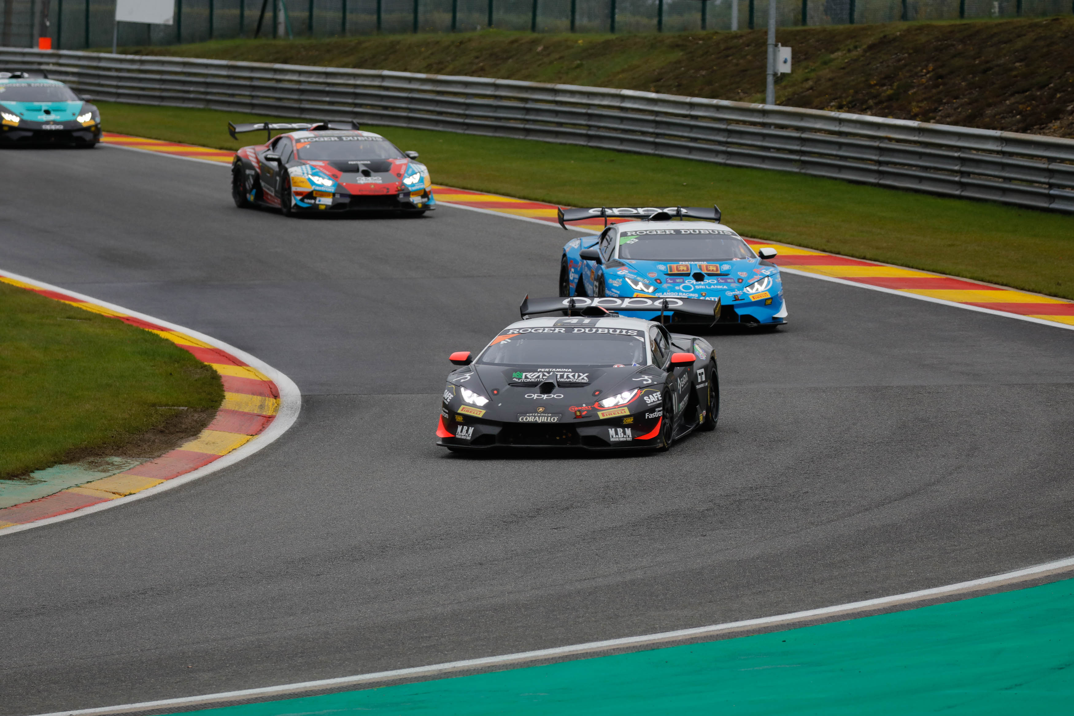 Trophies and scares for Target Racing at in Super Trofeo Lamborghini Spa round